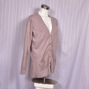 Old Navy Tan Button Front Cardigan Large